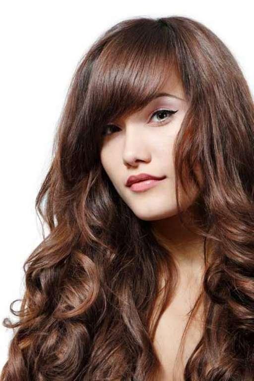 Женские прически для средних волос с челкой 4