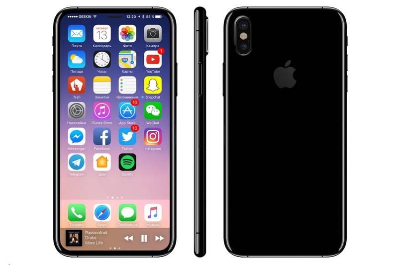 Концепт безрамочного Iphone 8