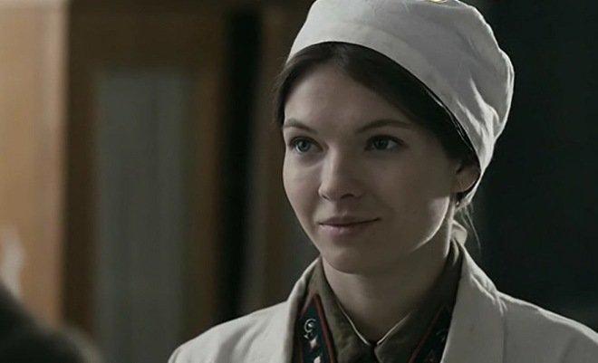 Наталья Бардо в роли медсестры Кати