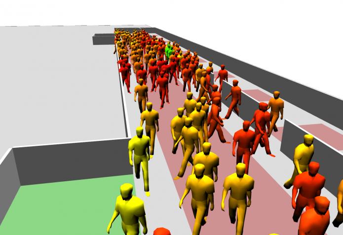 Предполагаемая система симуляции человеческих скоплений в кино
