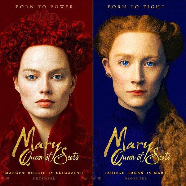 Постер фильма «Мария — королева Шотландии» с Марго Робби и Сиршей Ронан