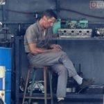 Кристиан Бэйл на съёмках «Форда против Феррари»