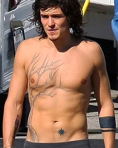 Татуировки мужчин-знаменитостей: Орландо Блум