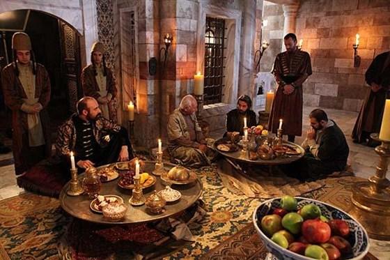 Приём пищи Султан Сулеймана