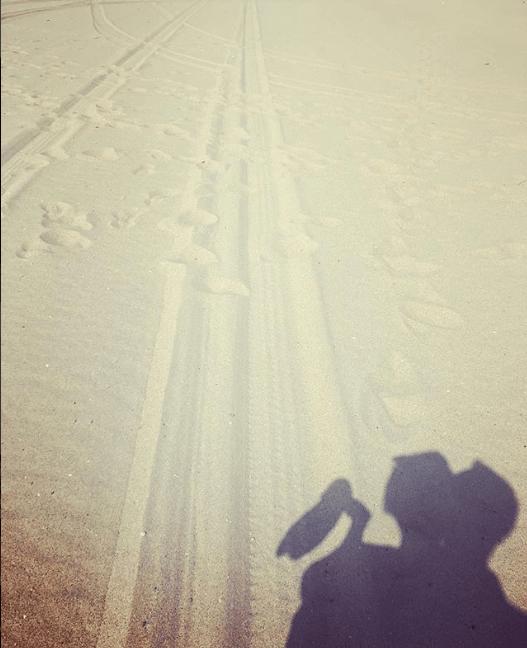 Силуэты на песке