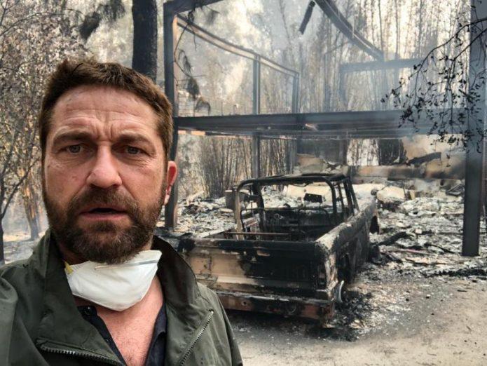 джерард батлер и сгоревший дом