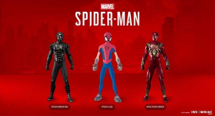Новые костюмы человека-паука