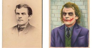 Художник превращает винтажные фотографии в портреты киногероев