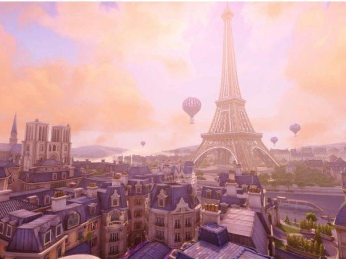 карта париж