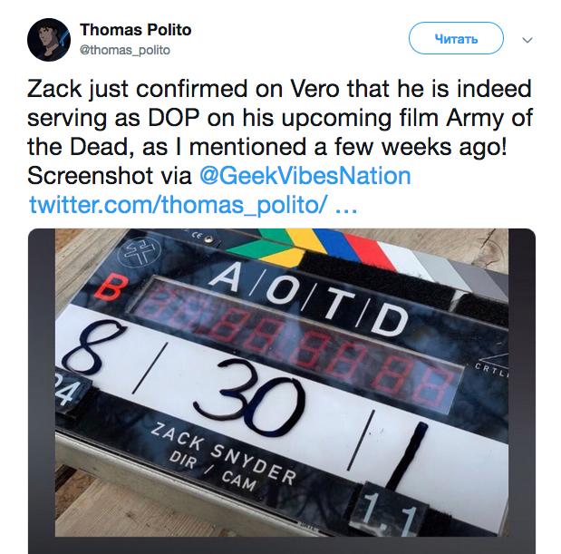 Zack Snyder on Twitter